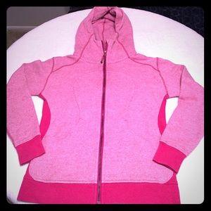 Lululemon pink Scuba Zip up Hoodie size 10.