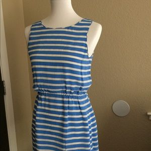 J. Crew stripes mini dress 4 sz