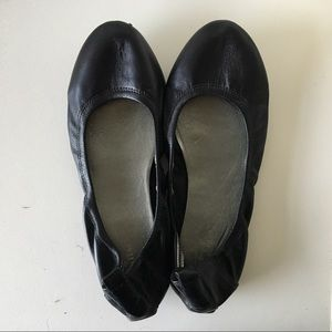 Cole Haan Black Leather Comfortable Ballet Flats