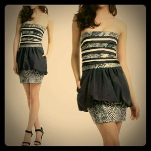 BCBG MAX AZRIA Milo Sequin Peplum Coctail Dress
