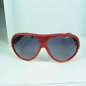Oversized Swarovski Crystallized Sunglasses