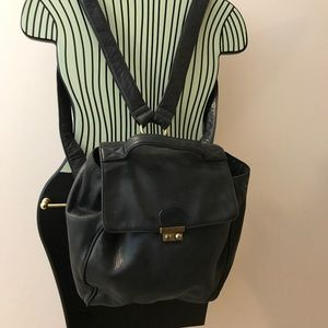 Soft genuine leather DKNY back pack purse