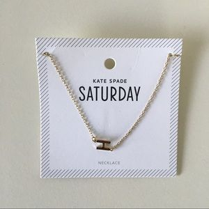 "Kate Spade Saturday ""H"" Initial Gold Long Necklace"