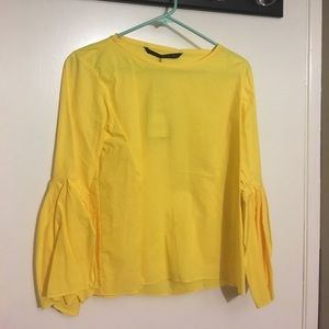 Zara - Yellow Poplin Blouse