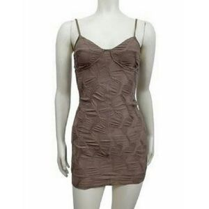 Urban Outfitters Taupe Bodycon Mini Dress