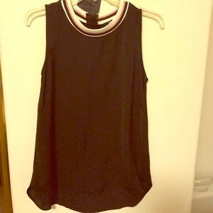 Black sporty jersey tank shirt from h&m