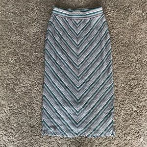 UO Silence + Noise Knit Bodycon Midi Skirt