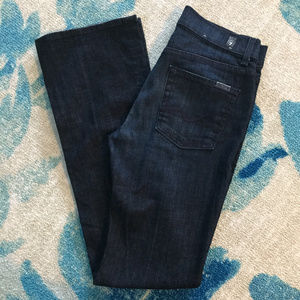 7 For All Mankind High Waist Bootcut Dark Jeans