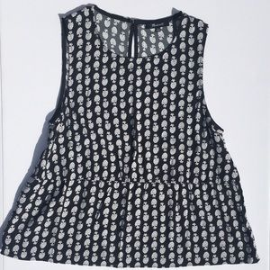 Madewell ruffle tank top in bloomstamp!
