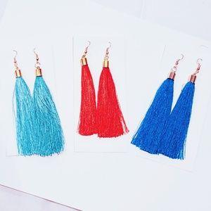 """Jewelry - Long Tassel Earrings (Approx. 4"""" Long)"""
