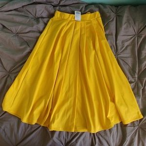Yellow Bow Circle Skirt
