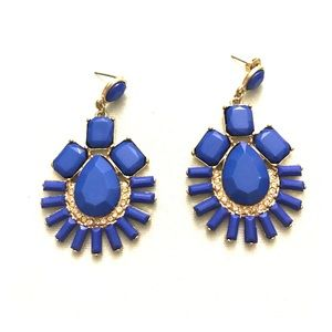Jewelry - Royal blue and gold goddess earrings