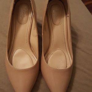 Nude Patent Leather Jaclyn Smith Heels