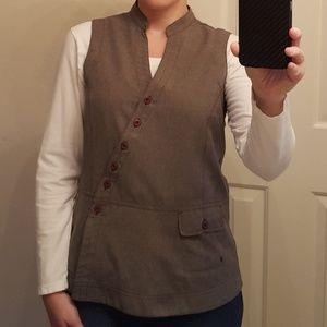Gray button vest
