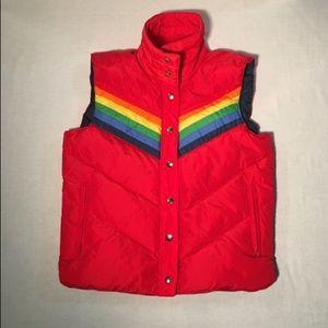 Retro 1970'-1980's Rainbow vest