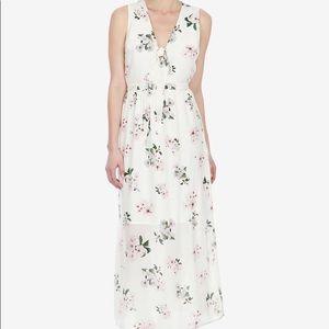 Lucky Brand Silk Floral Print Maxi Dress