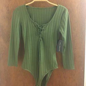 Forever 21 green bodysuit