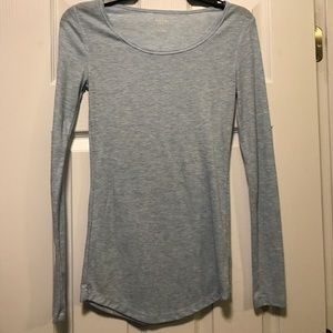 Blue long sleeve shirt. Size small. Worn once.