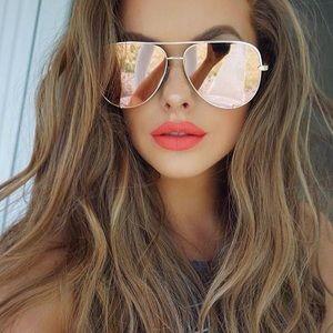 QUAY Vivienne Oversized Mirror Sunglasses
