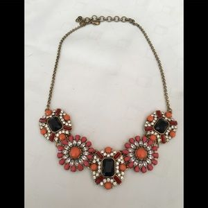 J. Crew Floral Stone Statement Necklace