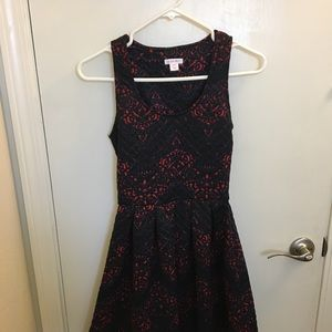 Xhiliration quilted floral print dress Sz XS