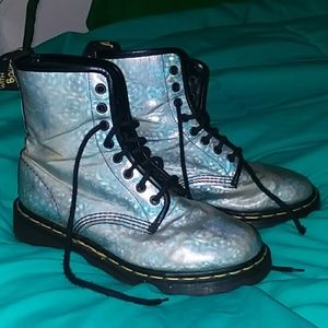 Holographic combat boots