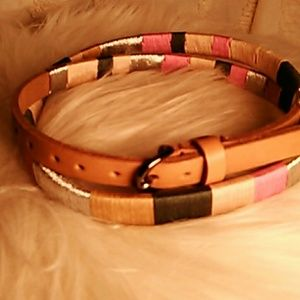 J.Crew thread wrapped belt.
