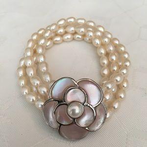 Honora Freshwater Pearl Opal Flower Bracelet