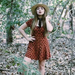 Forever 21 Rust Bohemian Dress