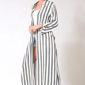 Oversized Maxi Shirt Dress with Pockets