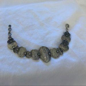 """Silpada sterling silver bracelet """"badge of beauty"""""""