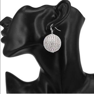 Jewelry - Short Disco Ball Earrings (gold and silver)
