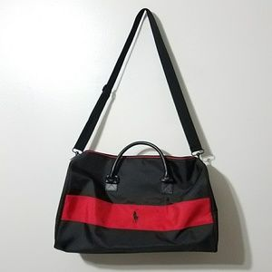 Ralph Lauren polo red & black duffle bag