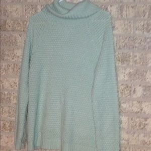 Mint green turtleneck sweater