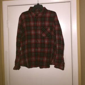 Forever 21 plus Plaid bottom up shirt