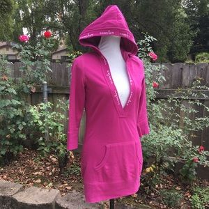 G by Guess long magenta hoodie