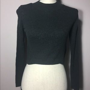 Gray Top Shop Knit Sweater High Neck Size 8