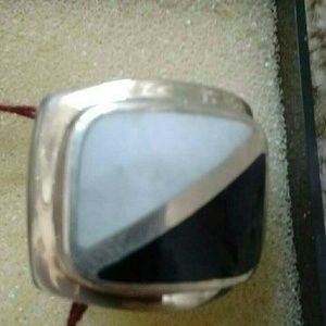 Sterling Silver mother of pearl Onyx ring