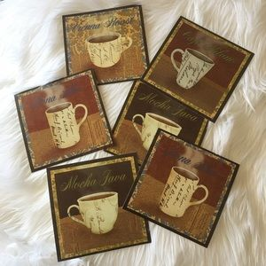 Coaster set of 6 coffee tea ☕️ drink pads NEW
