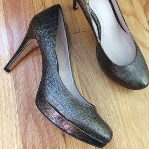 Bronze Vince Camuto platform heels