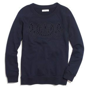 Madewell Cutout Sweatshirt in Navy