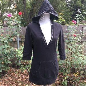 G by Guess long black hoodie