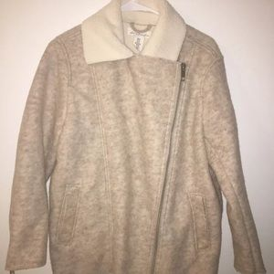 H&M Faux Fur Coat Size 8