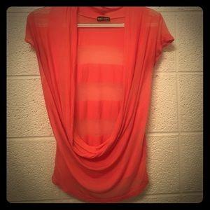 Swoop neck blouse.