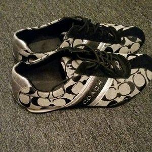 Coach Black & Silver Shoes