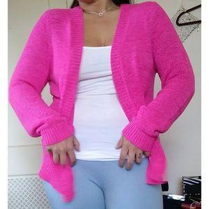 ▪ LOFT Hot Pink Knit Cardi ▪