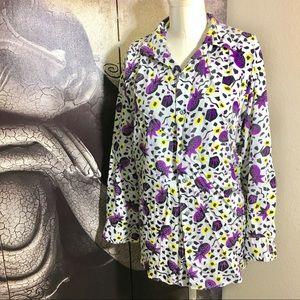 Espirit Sport Oversized Purple Pineapple Shirt