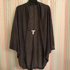 NWOT Ambiance Apparel Gray Cardigan -Size 3X