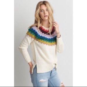 American Eagle Soft Rainbow Sweater Size XS
