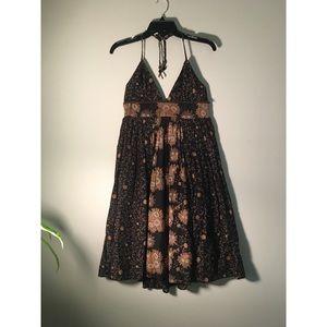 ABS by Allen Schwartz Printed Halter Dress